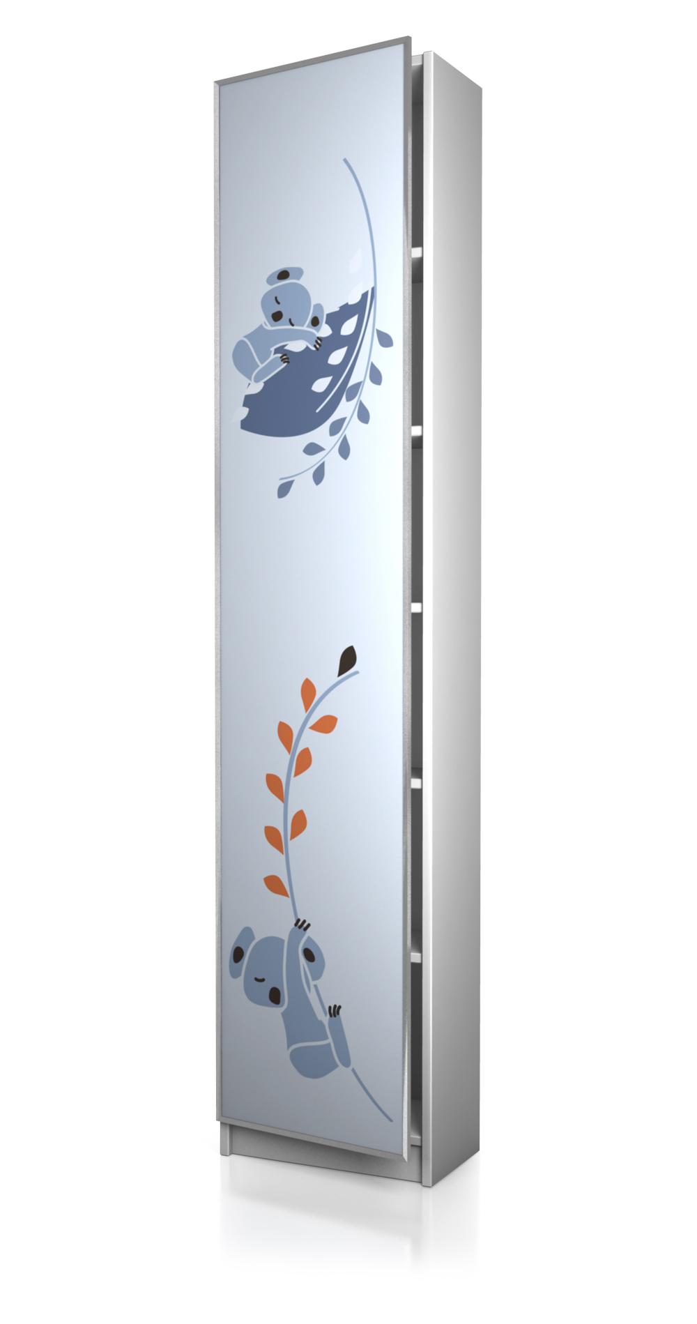 ikea möbelaufkleber - biily regal 40 x 202 cm tür k002