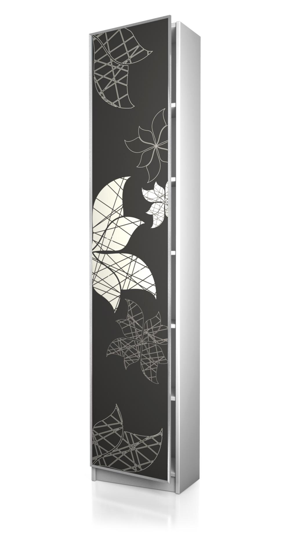 ikea möbelaufkleber - biily regal 40 x 202 cm tür r009