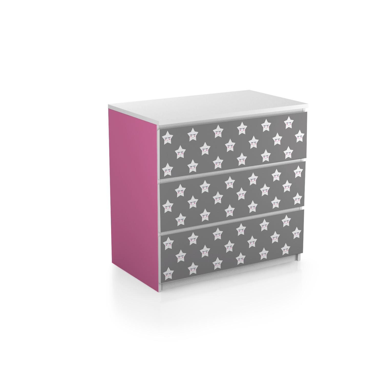 Ikea Mobelaufkleber Malm Kommode 3 Schubladen Stern