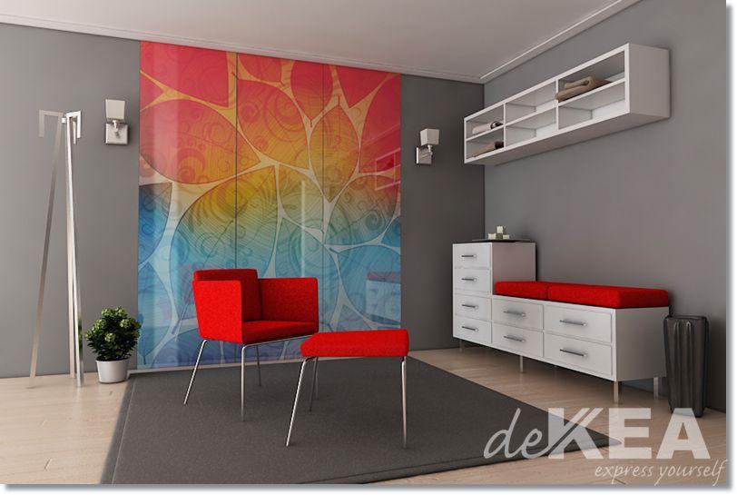 Dekoracyjne Szkło Na ścianie W Salonie Dekea