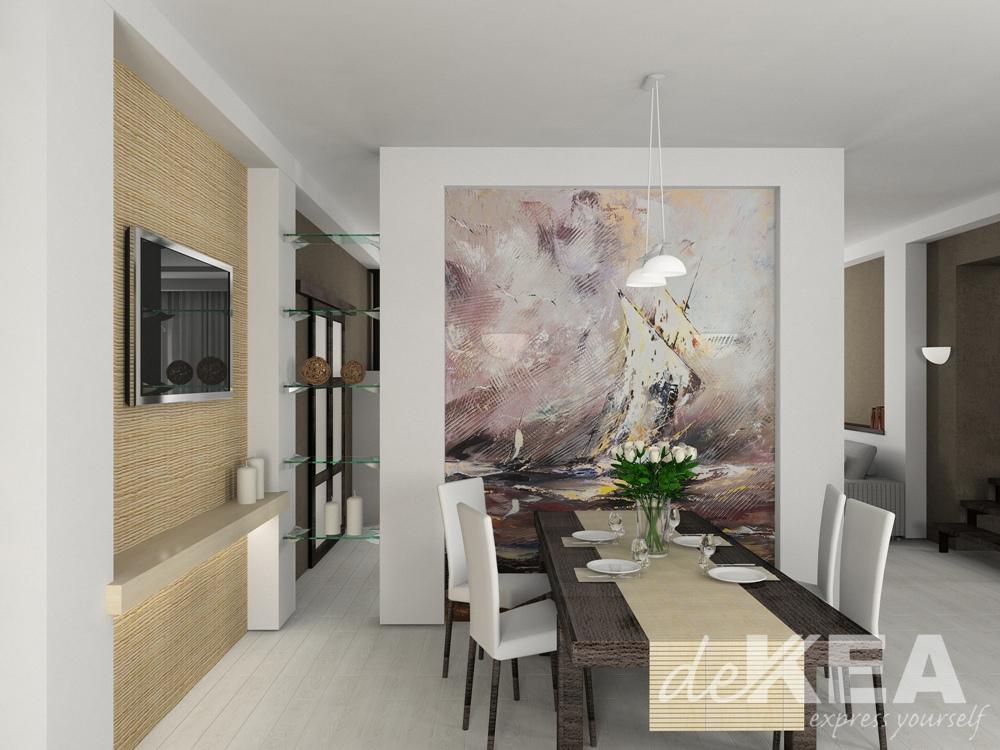 Oryginalna tapeta do salonu dekea - Pinturas de decoracion de salones ...