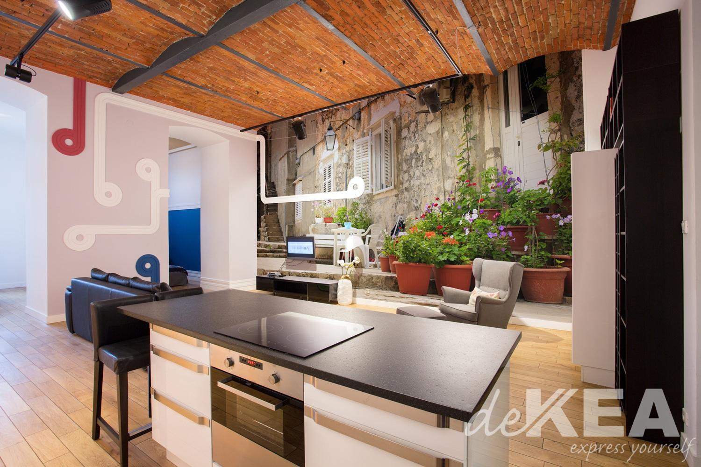 Tapeta do kuchni zmywalna dekea -> Kuchnia Z Fototapetą